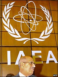 IAEA chief Mohammed ElBaradei at its headquarters in Vienna