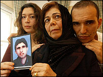 Omar Deghayes (in picture) and his sister, brother and mother