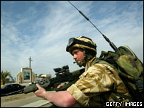 UK soldier in Iraq