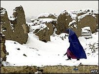 Snowfall in Afghanistan