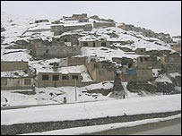 Kabul under a blanket of snow