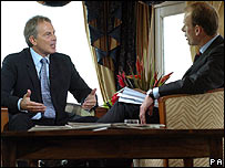 Tony Blair and Andrew Marr