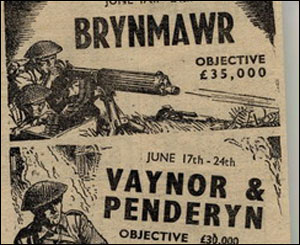 Newspaper advert from the display, courtesy of Merthyr library