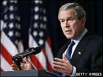 US President George W Bush. Archive picture