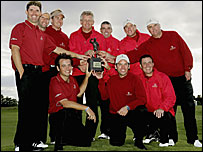 Great Britian and Ireland's victorious Seve Trophy team