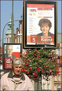 Afiches políticos en Polonia
