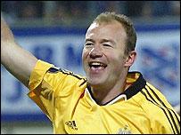 Alan Shearer scored Newcastle's first goal