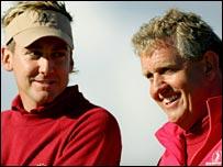 Colin Montgomerie (right) and Britain's Ian Poulter