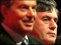 Tony Blair and Gordon Brown at the Labour conference
