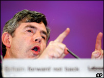 Chancellor of the Exchequer Gordon Brown