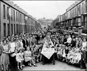 Street party, photo courtesy of Merthyr library