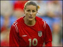 England and Arsenal star Kelly Smith