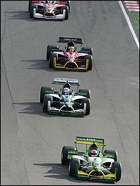 Nelson Piquet (front) 