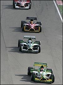 Nelson Piquet (front)
