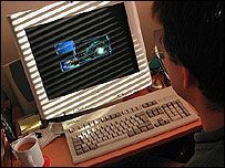 Person at a computer