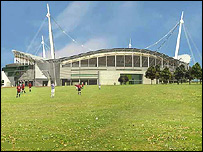 Artists impression of outside of proposed new Liverpool FC stadium