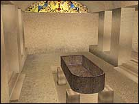 How the Pharaoh's burial chamber looks on Virtual Egypt