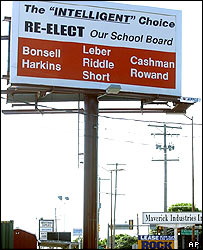 Sign appealing for votes to re-elect the school board in Dover