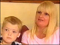 Liam Riddiford and mother Sonia