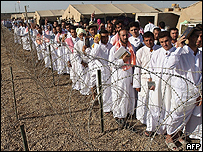 Iraqis being released from Abu Ghraib