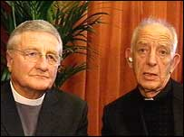 The two witnesses, Rev Harold Good and Fr Alec Reid