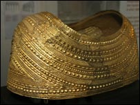 The Mold Gold Cape on display in Wrexham Museum