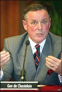 General John de Chastelain saying IRA decommissioning is complete