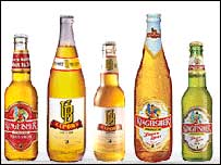 Kingfisher beers