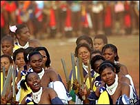 Swaziland's annual Reed dance 29 August 2005