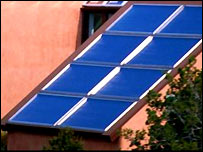 Solar panels on house.  Image: Eyewire Inc