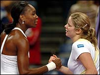 Venus Williams and Kim Clijsters