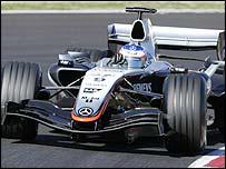 Kimi Raikkonen in the new McLaren