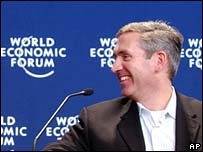 former CNN executive Eason Jordan at the World Economic Forum
