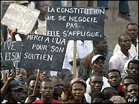 Opposition march in Lome, 29 February 2005