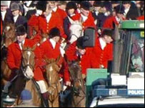 The Quorn hunt  in Melton