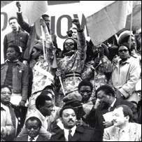 Anti-apartheid rally