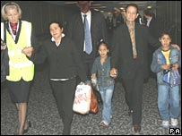 Family of Jean Charles de Menezes arriving in the UK