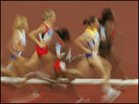 Athletes take part in a race