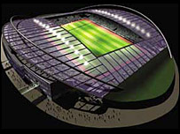 Artist's impression of the planned football stadium