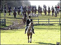 Riders at the Duke of Beaufort's estate in Didmarton