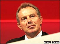 Tony Blair, speaking at the Labour conference