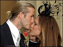 David and Victoria Beckham in 2003
