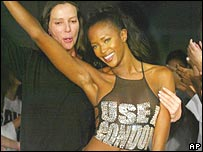 Katherine Hamnett and Naomi Campbell
