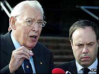 Ian Paisley (left) with party colleague Nigel Dodds