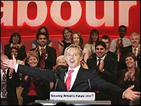 Tony Blair, during his speech at the Labour conference in Brighton