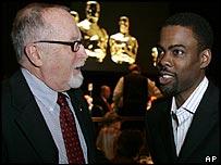 Oscars producer Gil Cates (left) with Chris Rock