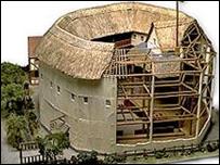 Modelo del teatro La Rosa reconstruido