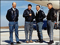 From left to right: Chief test pilot Andrew Turcat, test pilot Jean Guignard, flight engineer Henri Perrier and flight engineer Michel Retif