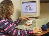 Photo of woman ordering over the internet