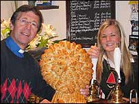 The Reverend John Buckley and barmaid Jo Stranks